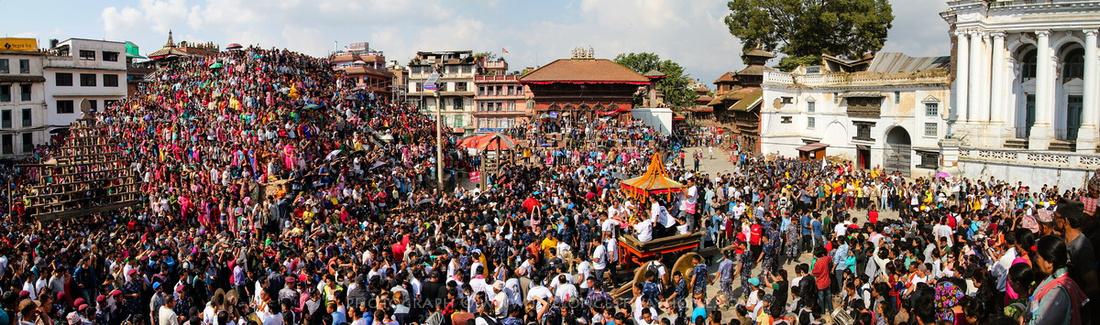 Indra Jatra in Kathmandu Durbar Square (Basantapur)