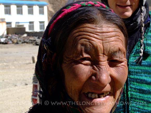 Tibetan village woman