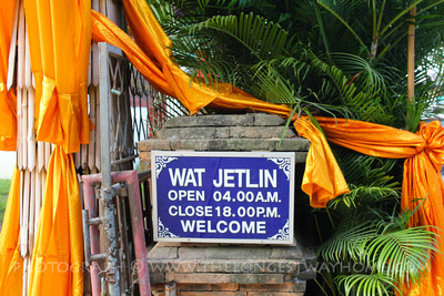 Sign for Wat Jetlin