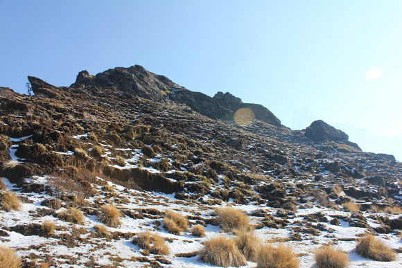 Steep climb on Mardi Himal