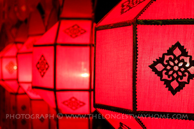 Colorful red paper lanterns
