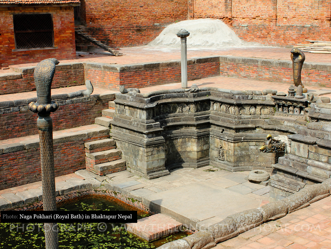 The Royal Bath or Naga Pohari in Bhaktapur