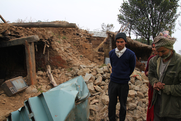 Rural village in Nepal devastated by the earthquake