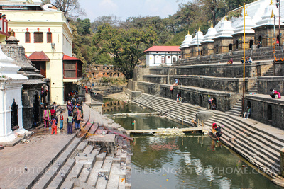 Ghats at the Pashupatinath Temple complex, Nepal