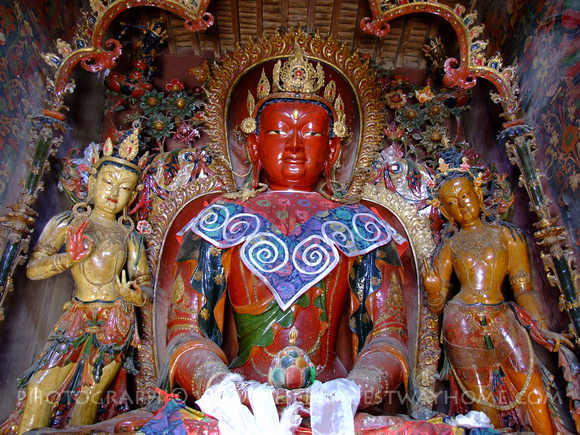 Buddha statue in a Tibetan Monastery