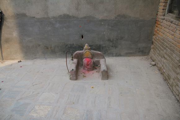 Kumari shrine sits in a corner by Maru Tole in Kathmandu