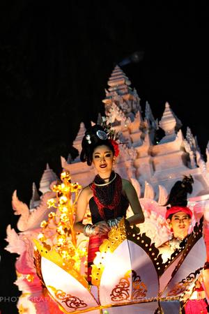 Goddess of the reborn crow at Loi Krathong