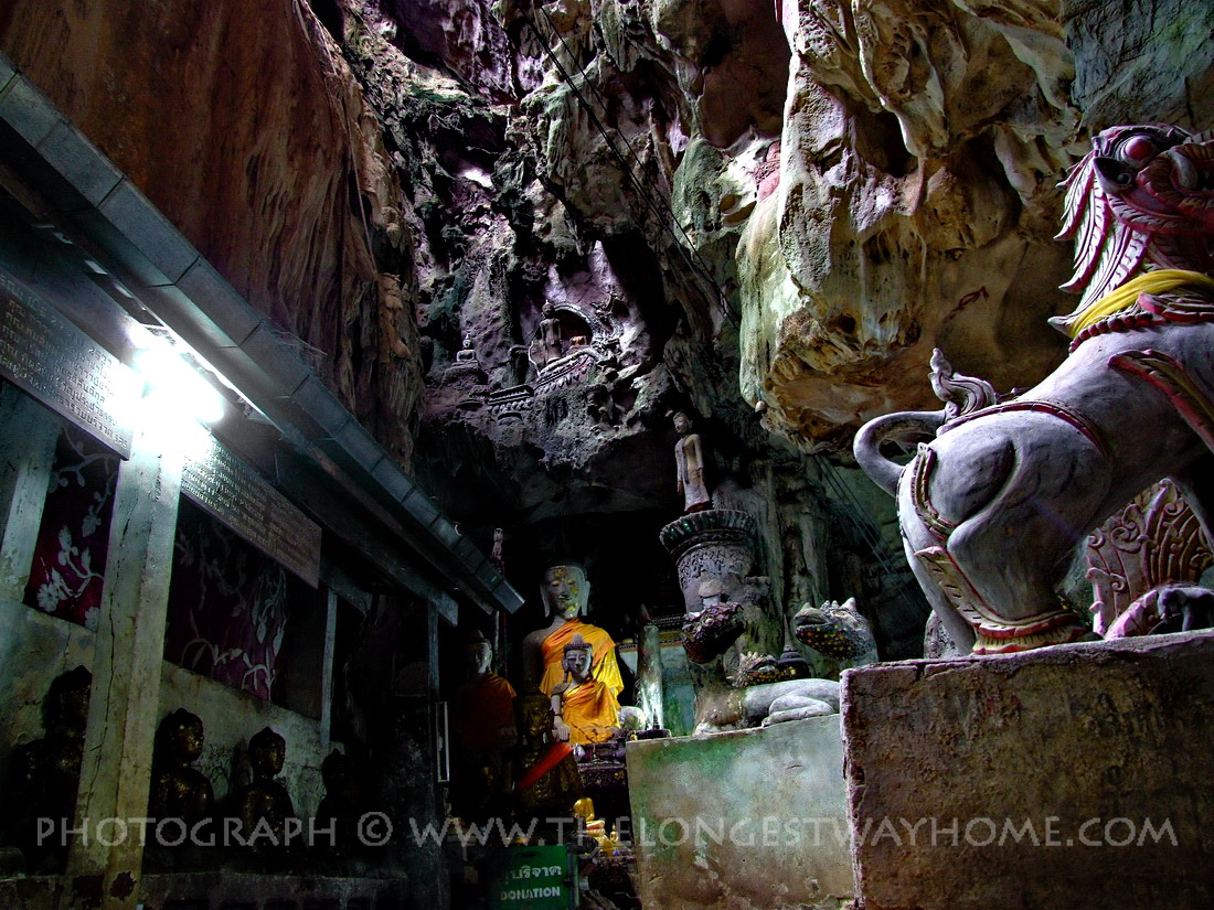 Shrine at the Chiang Dao Caves in North Thailand