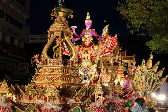 Elaborate float during the Loi Krathong parade