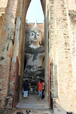tatue of the Buddha at Wat Si Chum in Sukhothai Historical Park