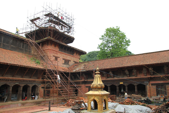 Mul Chowk being restored by the Kathmandu Valley Preservation Trust