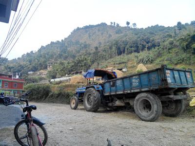 Road on the Mardi Himal Trek