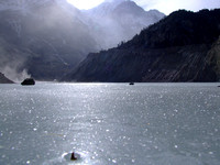 Frozen Lake on the Annapurna Circuit