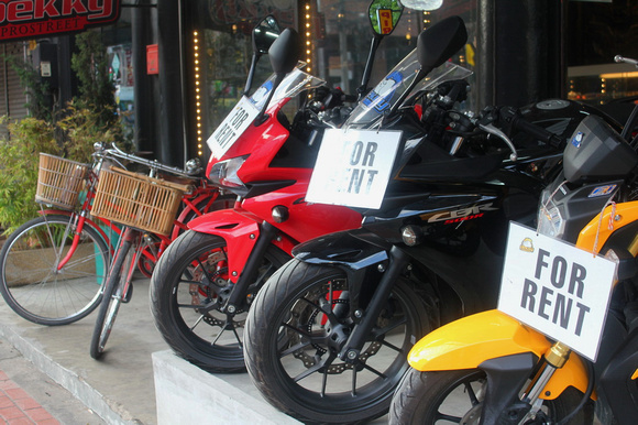 Motorbikes for rent in Chiang Mai, Thailand