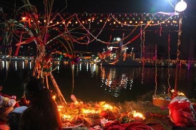 Chhath festival in Kathmandu