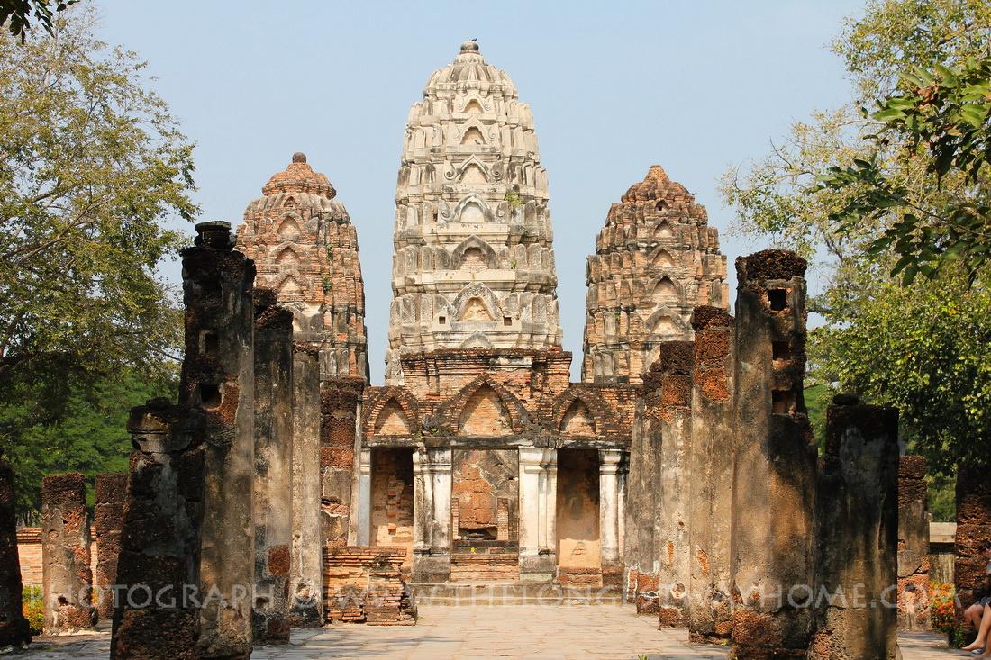 Wat Si Sawai also known as Wat Sri Savaya in Sukothai, Thailand