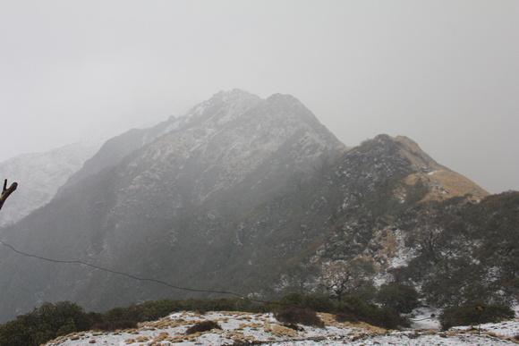Bad weather on Mardi Himal