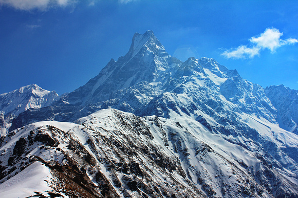 views on the way to Mardi Himal Base Camp