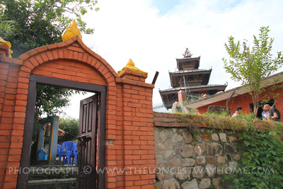 Outside Bhagwati temple in Dhulikhel, Nepal