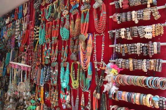 selection of beads and jewellery in Kathmandu