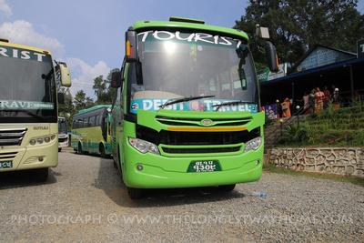 Two Kathmandu to Pokhara buses