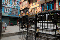 Ganesh shrine and Buddhist stupa in Thamel