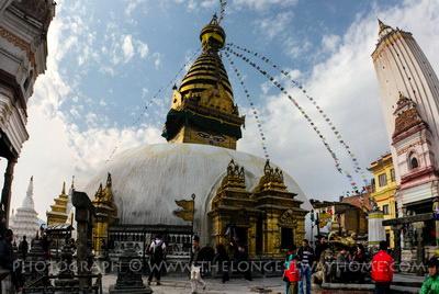 Swayambunath Stupa in the Kathmandu Valley
