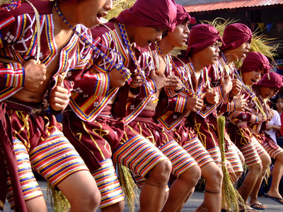 Kaamulan rice dancers in The Philippines