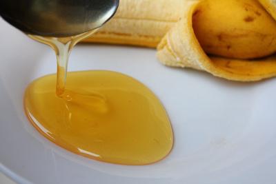 Banana flavored Honey with a banana