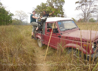 Jeep safari in Bardia National Park