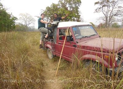 Jeep safari in Bardia National Park