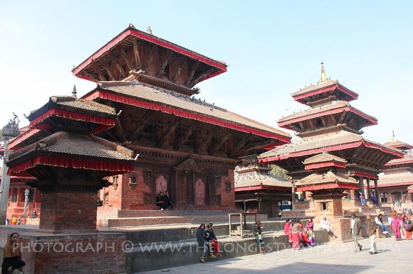 Jagannath, Vishnu & Indrapur & Temples in Kathmandu Durbar Square