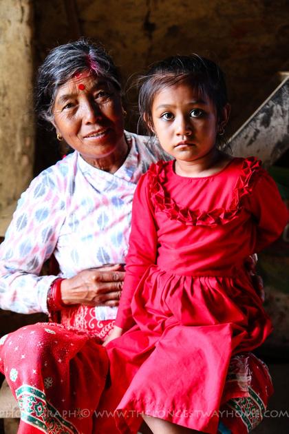 Kinjal and her grandmother