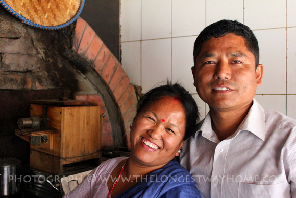 Vijara and his wife Kamala at the old Pokhara Pizza