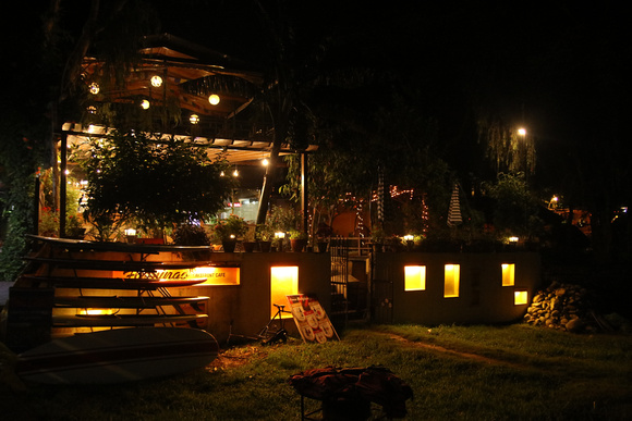 Restaurant at night in Pokhara