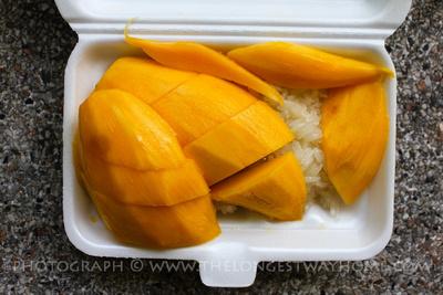 Mango sticky rice take away!