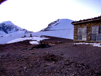 High camp on the Annapurna Circuit Nepal
