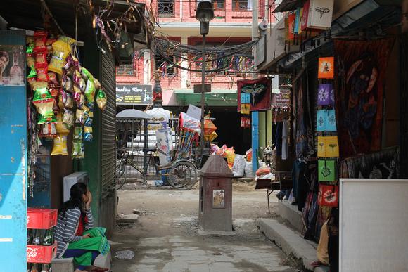 Small street in Thamel, Kathmandu