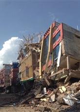 Kathmandu's Naya Bus Park collapsed