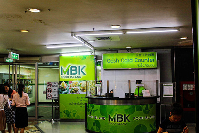 Cash card counter at MBK