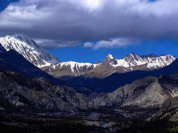 Annapurna Massif from the Annapurna Circuit Nepal