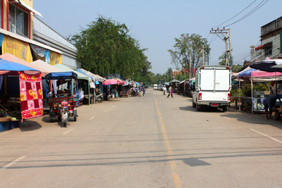 The main road in Old Sukhothai