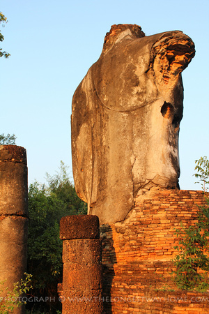 Back of the Buddha's statue at Wat Sangkawat
