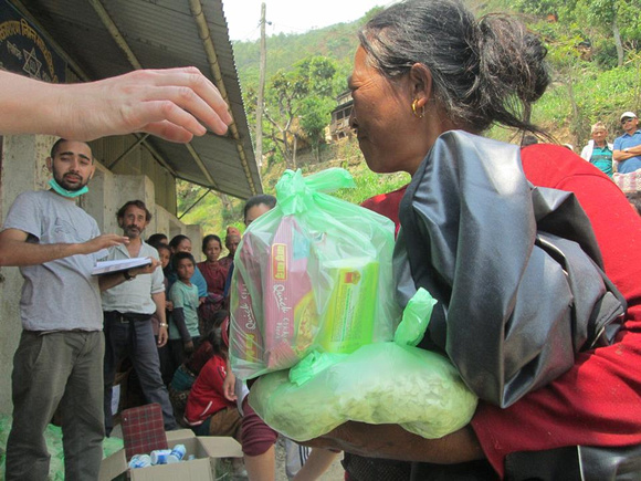 Aid was being delivered to remote areas
