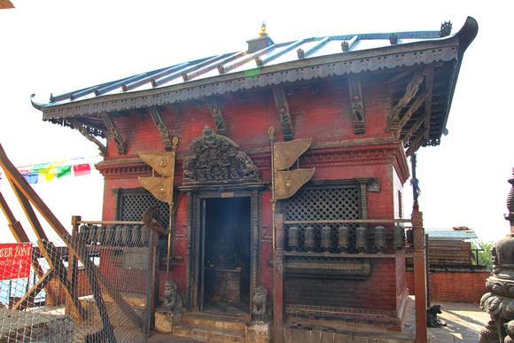 Vasupura (earth) temple at Swayambhunath, Nepal