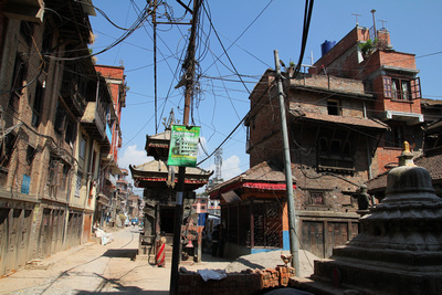 The main street in Thimi