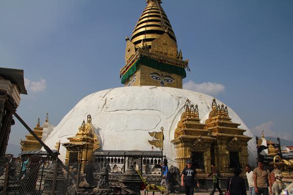 Walking around Swayambhunath clockwise