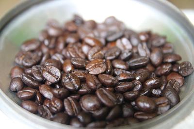 Buddha coffee beans in the sun