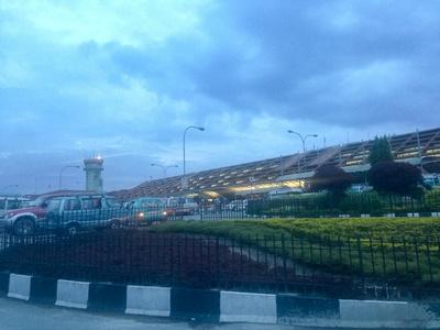 Tribhuvan International Airport on a rainy day