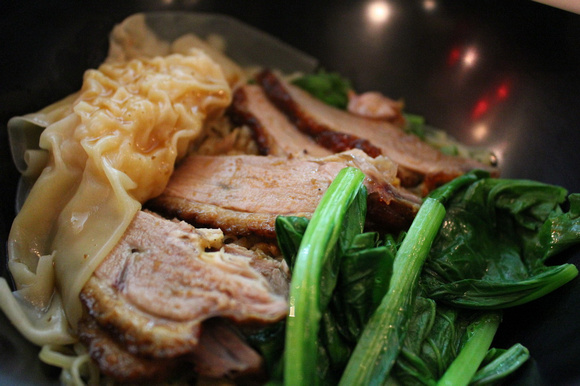 A bowl of roasted duck in Thailand